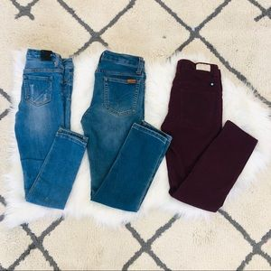 3 pairs girls skinny jeans Joes lucky brand DKNY